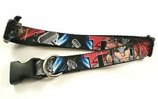 Mighty THOR Graphic Font Letters Marvel Adjustable Dog Buckle Collar 15-24 inch