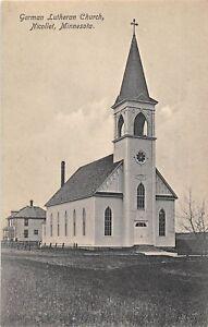 D88-Nicollet-Minnesota-Mn-Postcard-c1910-German-Lutheran-Church