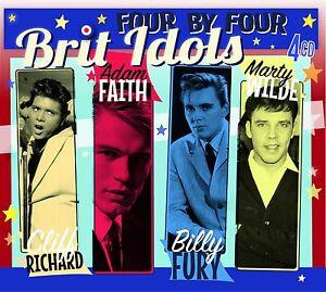 BRIT-IDOLS-Cliff-Richard-Adam-Faith-Billy-Fury-Marty-Wilde-4CD-Box-Set