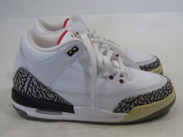 6f0d54f6488 Air Jordan 3 III Retro GS White   Cement Grey Size 4y VNDS (398614 ...