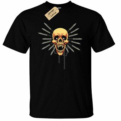 Indien Crâne T-Shirt Apache Habillement Hommes Coiffure Motard Tatouage Vélo