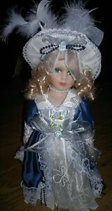 Vintage-French-Doll-with-Metal-Detachable-Stand
