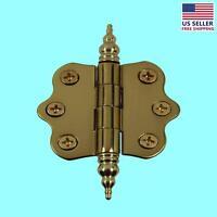 Solid Brass Cabinet Hinge Vintage Steeple Tip 7/16h X 2w | Renovator's Supply on sale