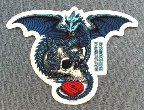 Powell Peralta Dragon Skull Skateboard Sticker 6.5in si