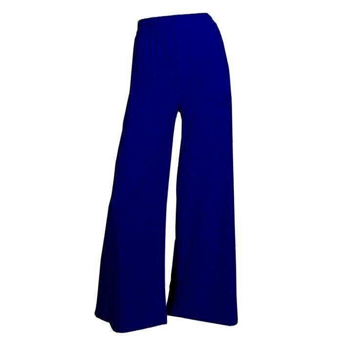 Trendige weite Marlenehose Stretchhose Lagenlook Hose cobalt blue