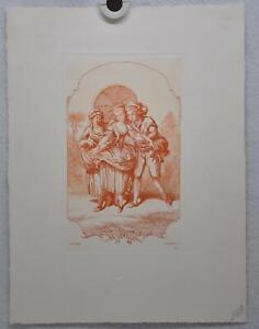 Auguste-Pequegnot-Etching-After-J-B-Huet-Plate-125-Lithograph-Print-11-x-15