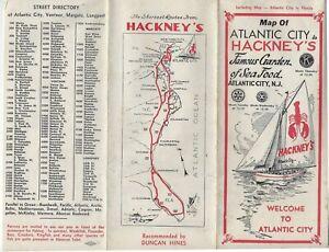 c1935-40 Map of Atlantic City to Hackney's Famous Garden of Sea Food