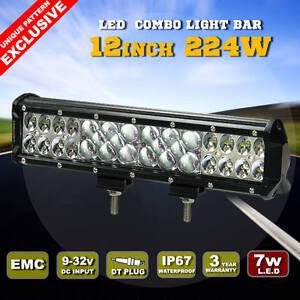 12inch-224W-Philips-Lumileds-LED-Light-Bar-Flood-Spot-Combo-Work-Driving-Lamp