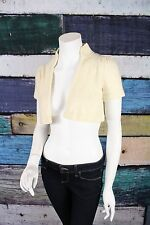 Banana Republic Cream 100% Cashmere Crop Cardigan Sweater Shrug SMALL S
