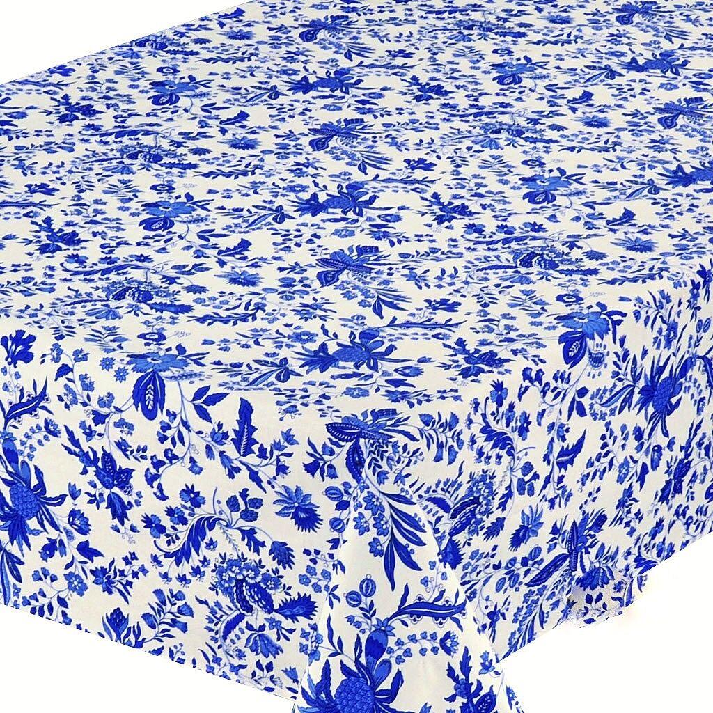 LE CLUNY, VERSAILLES bleu French Provence enduit Coton Nappe, 60  X 96