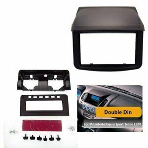 Single-Double-Din-Radio-Fascia-for-Mitsubishi-Pajero-Sport-Triton-L200-Dash-Kit