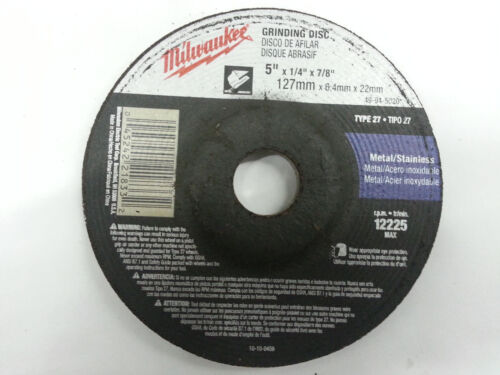 Milwaukee Grinding Disc 5X1//4X7//8 49-94-5020 NEW w//out orig pkg FREE SHIPPING!!!