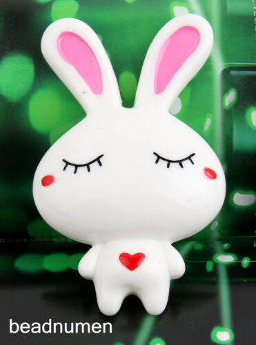 1pcs resin Lovely Rabbit Scrapbook Craft Flatback decoration diy