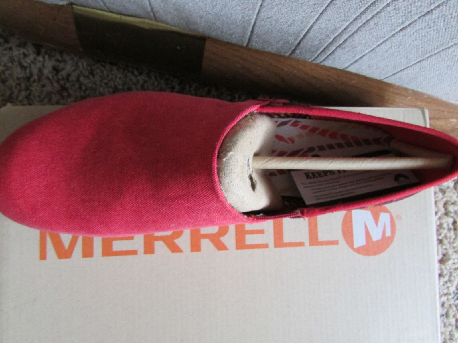 NEW MERRELL OLEANDER RED Donna SLIP ON LOAFER SHOES Donna RED 9  J57666  FREE SHIP! 98cfce