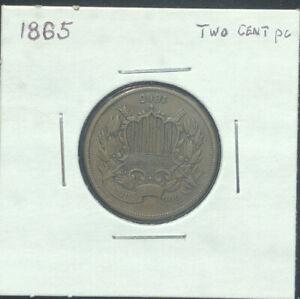 1865-Copper-Philadelphia-Mint-Two-Cent-Coin