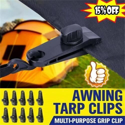 1//5//10PCS Tarp Clips Awning Clamp Snap Hangers
