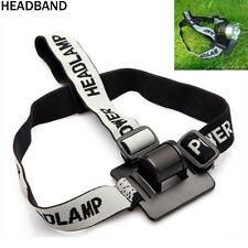 New Headband/Helmet Strap Mount Head Strap For LED Headlamp/Head Bike light Lamp