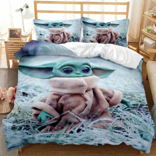 Yoda Baby Bedding Set Star War Movie For Fans Bedroom Decor