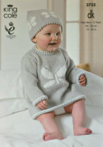 Tejer patrón Bebé Sin Mangas Chaleco Y Sombrero Con Diseño De Mariposa DK 3735