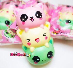 Jumbo-14cm-Kawaii-Face-matschig-Kitty-Panda-Bear-String-Soft-langsam-steigenden-Geschenk-Spielzeug