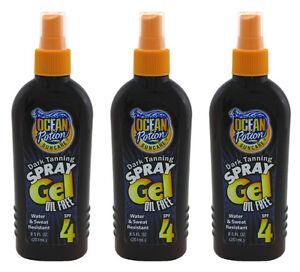 3x-Ocean-Potion-Suncare-Dark-Tanning-Spray-Gel-SPF-4-8-5-OZ-Oil-Free-Sun-Tan
