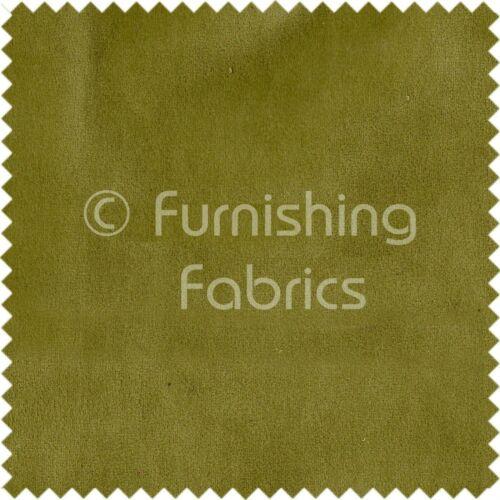 Designer Plain Soft Herbal Green Velvet Pile Texture Upholstery Curtains Fabric
