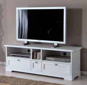Mobile porta tv in legno laccato bianco 3 cassetti vani a - Mobile porta tv bianco ikea ...