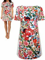 ADRIANNA PAPELL JOHN LEWIS HOUSE OF FRASER FLORAL COTTON SHIFT DRESS SIZE 12-20