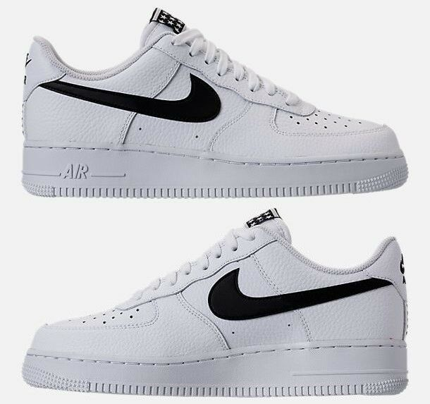 NIKE CASUAL AIR FORCE 1 '07 CASUAL NIKE MEN's WHITE - BLACK AUTHENTIC NEW IN BOX SELECT SIZE c44722