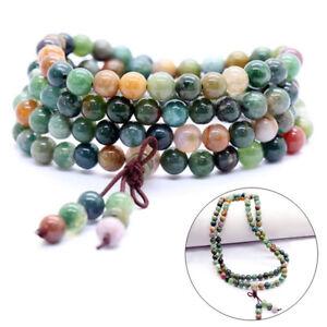 6mm-108-Prayer-Tibetan-India-Agate-Buddhist-Beads-Mala-Bless-Bracelet-Necklace