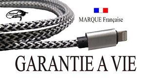 Cable-Iphone-5-6-7-8-cordon-fil-usb-gris-lightening-garantie-a-vie-costaud-fort