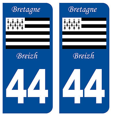 Auto, Moto – Pièces, Accessoires Dynamic 44 Loire Atlantique Breizh Departement Immatriculation 2 X Autocollants Sticker Automobilia