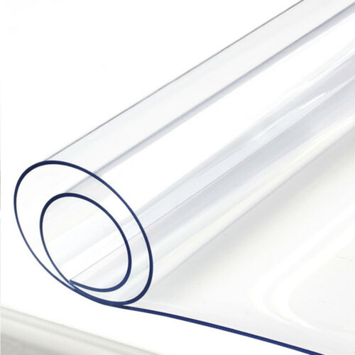 1.5mm Clear PVC Rectangle Tablecloth Transparent Table Cover Protector 60x120cm