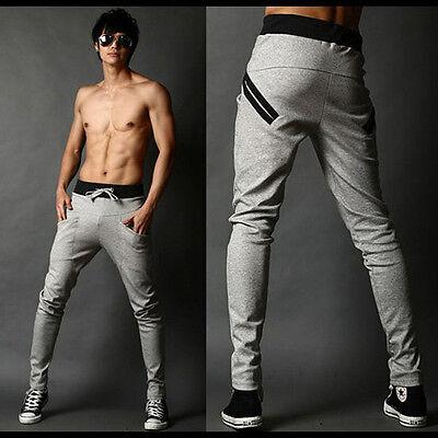 Hot Sports Sweatpants Mens Korean Style Slim Fit Harem Pants Casual Trousers New