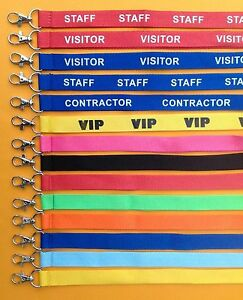 FIVE  Lanyards With Id Badge Pass Invitation Holder  red pink blue vip black UK