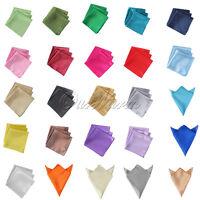 """50 Satin Table Napkin Handkerchief 12"""" Square Multi Purpose Wedding Party Decor"""