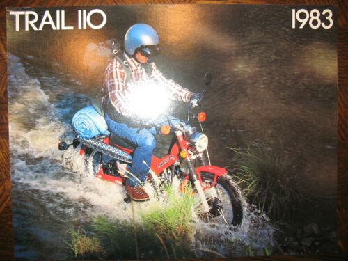 1983 HONDA CT110 TRAIL 110 NOS OEM DEALER/'S SALES LITERATURE BROCHURE CT 83
