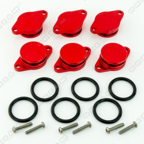 Joint Torique pour BMW 6x 32mm Rouge Alu Volet de Turbulence Remplacement