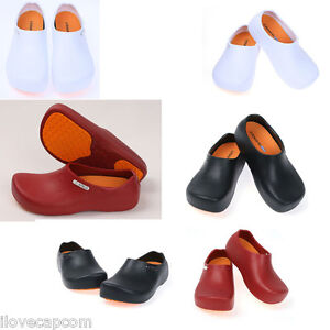 Non-Slip Clogs Chef Comfort Shoes Kitchen Bathroom Serving Water Safety Korea