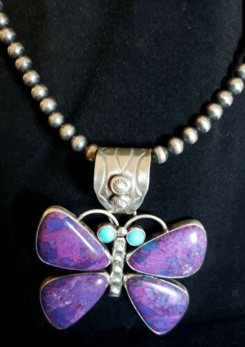 Native American Purple Stone, Turquoise, Sterling