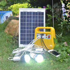Solar Lighting System (Shed / Garage) - 2 x 3W LED / MP3-RADIO / USB CHARGING