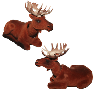 Canadian Mountain Moose Bobble Head Doll