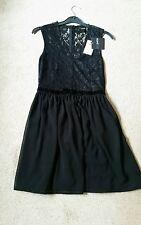 asos petite black lace dress velvet belt size 10 wedding classy lbd