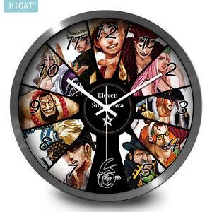 ZuverläSsig One Piece Luffy Law Anime Manga Wanduhr Uhr R.30cm Silber Rand Neu Merchandising & Fanartikel