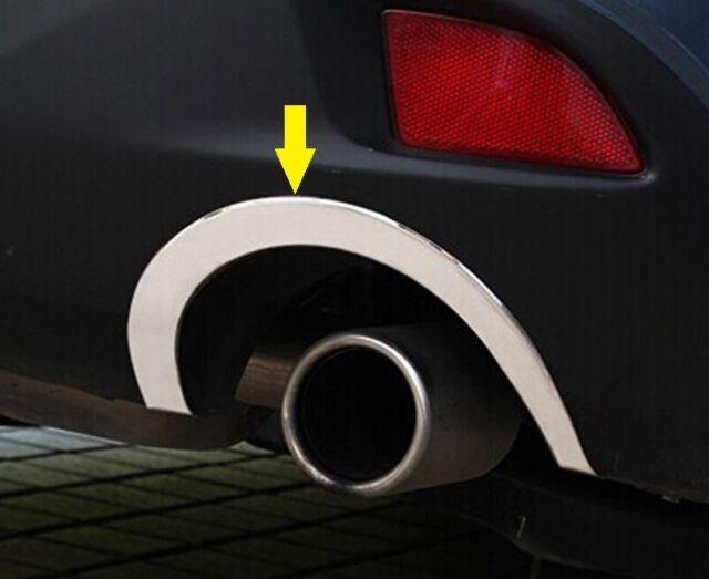 2PCS 304 S/Steel Rear Exhaust tip Frame Chrome trims For Mazda3 Hatchback 2014+