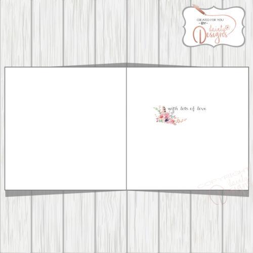 Patraque oeillères Joyeux Anniversaire Carte De Mère Femme Soeur femelle relation