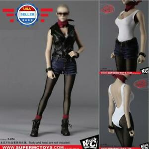 "1//6 Motorcycle Leather Jacket Pants Set For 12/"" PHICEN HotToys Female Figure USA"