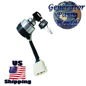 Details about Powerland Ignition Switch for 4400E 6500E 8500E 10000E  Generator Key Start 3 Way