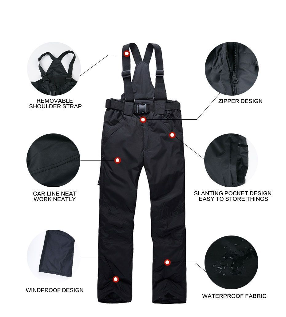 Damens Ski Pants Pants Ski Winter Waterproof Insulated Snow Trousers Windproof Warm Fleece 935909
