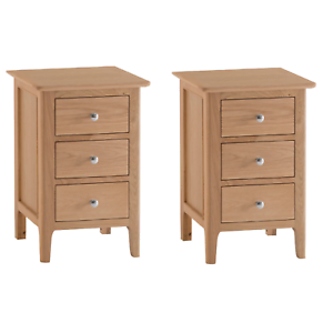 Image Is Loading Pair Of Normandy Oak Large Bedside Cabinets Nightstands